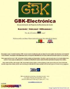 GBK-Electronics webpage